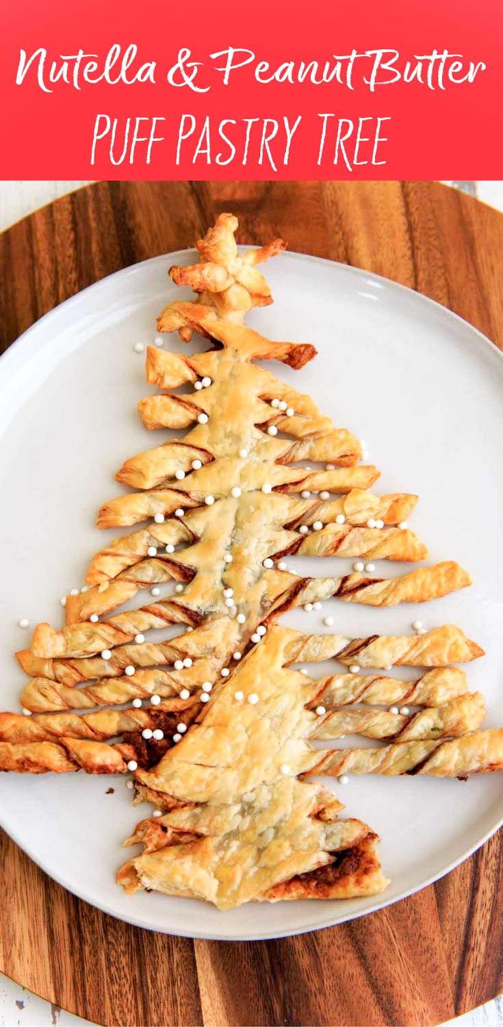 Nutella and Peanut Butter Puff Pastry Christmas Tree | Recipe ...