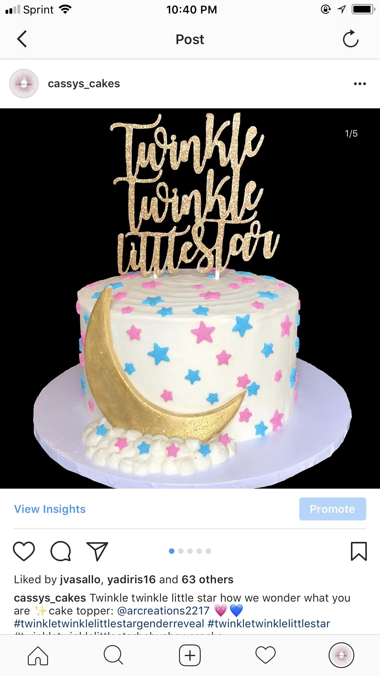 Gender Reveal Gender Reveal Cake Gender Reveal Party Gender Reveal Cake Ideas Twinkle Gender Reveal Cake Baby Gender Reveal Party Baby Shower Gender Reveal
