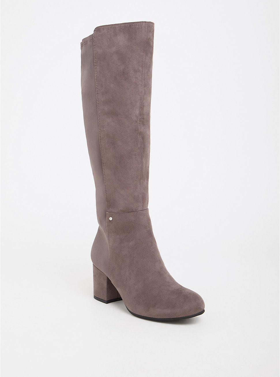 489a741ad4e Plus Size Circus by Sam Edelman Grey Faux Suede   Neoprene Boot (Wide Width    Wide Calf)