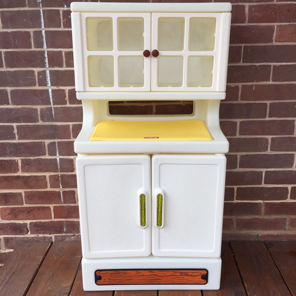 Vintage Little Tikes CHILD SIZE Party Cupboard Cabinet Hutch Pantry ...