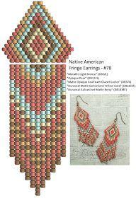 Linda's Crafty Inspirations: Native American Fringe Earrings - #78