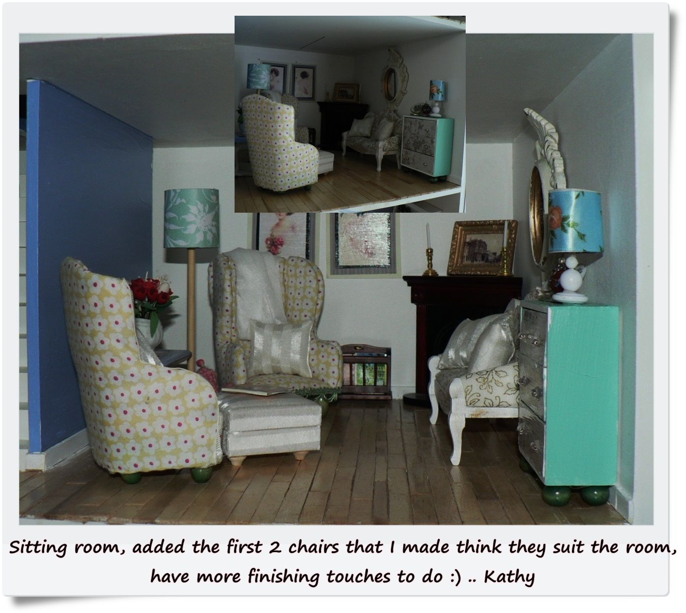 Room from one of my dolls houses (Oak Hurst Gardens - The Dolls House Emporium)  .. a work in progress