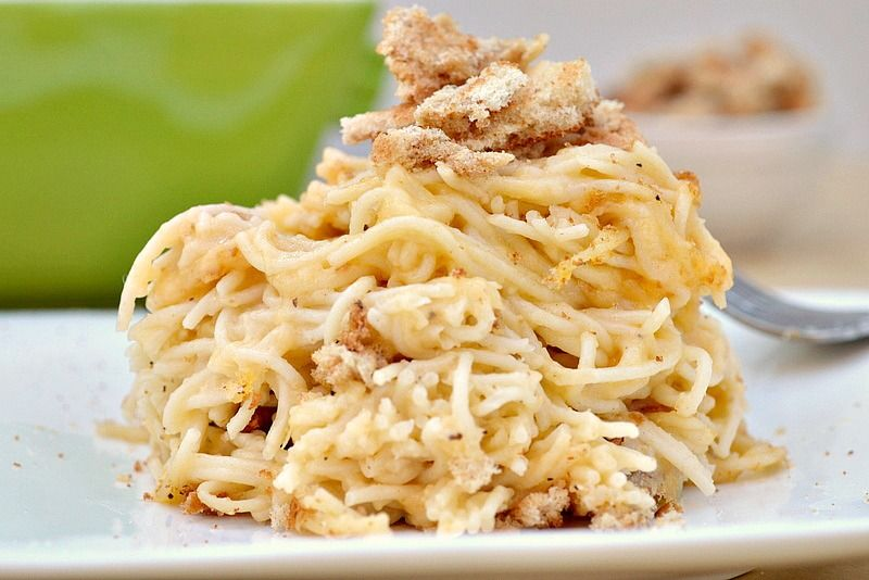 Eat Skinny Be Skinny: Baked Cheesy Chicken Pasta Nutritional information  per 1 cup: Calories: 335 Fat: 11 grams Carbohydrates: 32 grams Fiber: 6  grams ...