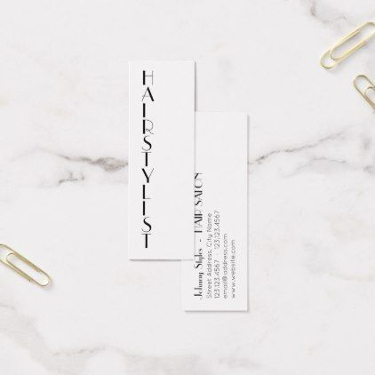 Thin vertical style text mini business card salon gifts style thin vertical style text mini business card salon gifts style unique ideas reheart Choice Image