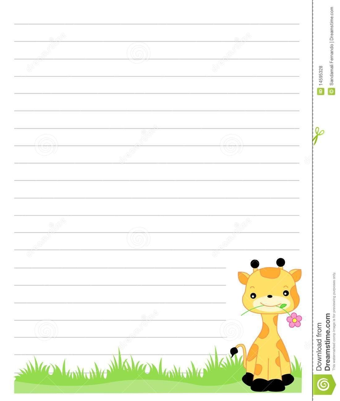 Cute Lined Paper Background