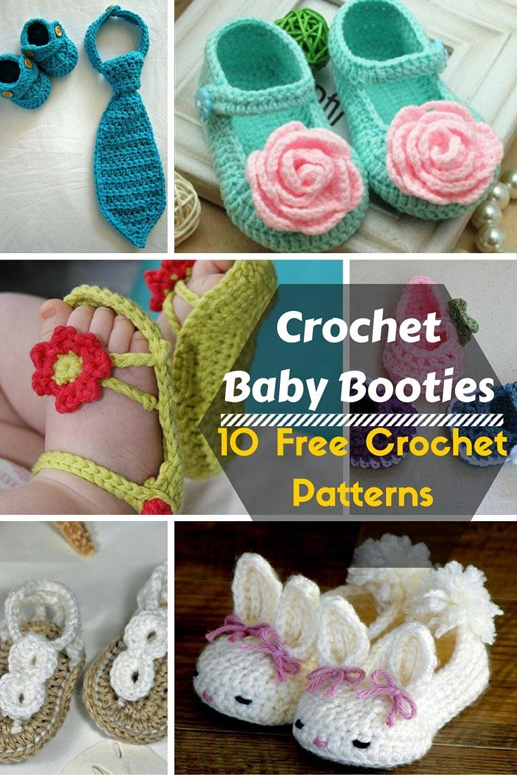 10 Stylish #Crochet Baby Booties #Pattern | DIY and Crafts | our new ...