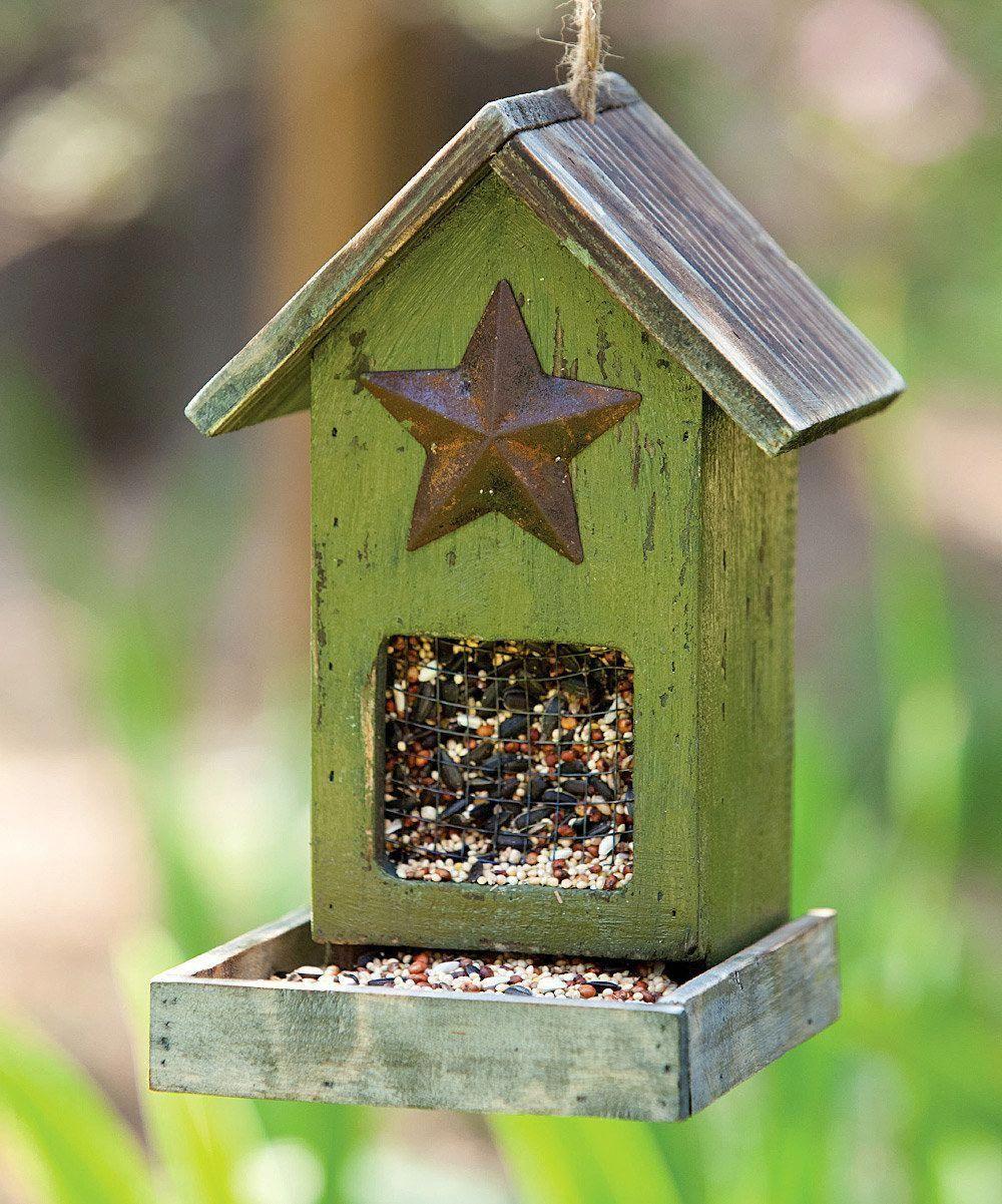 Cute bird feeder. homemadebirdhouses Rustic bird