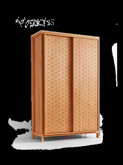 Kleiderschrank Asanoha In Buche Mit Holzfullung Kleiderschrank Schrank Holz Schrank