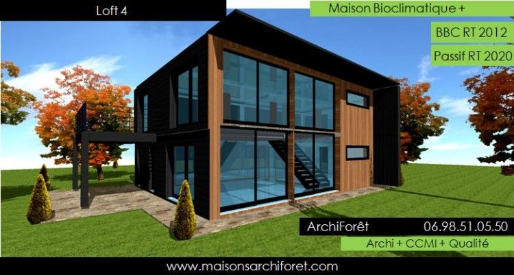 Votre maison loft patio ou container modulaire par votre architecte constructeur www for Photo maison contemporaine container