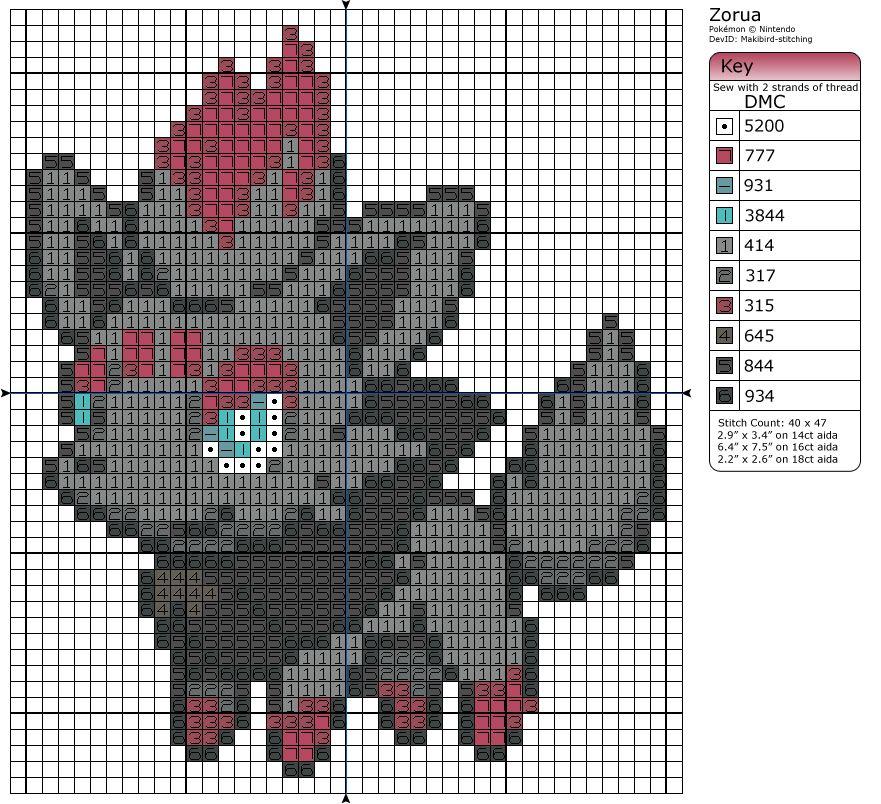 pixel art zorua