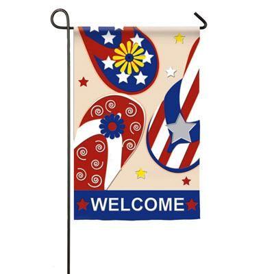 Garden Applique Patriotic Flip Flop Flag Flag Decor Evergreen Flags Garden Flags
