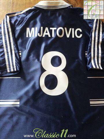 1f711b174 Relive Predrag Mijatović s 1998 1999 season with this vintage Adidas Real  Madrid away football shirt.