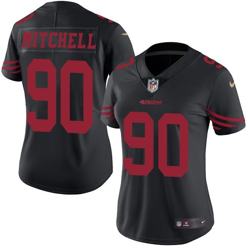 Men's San Francisco 49ers #90 Earl Mitchell Black Alternate Stitched NFL Nike Elite Jersey