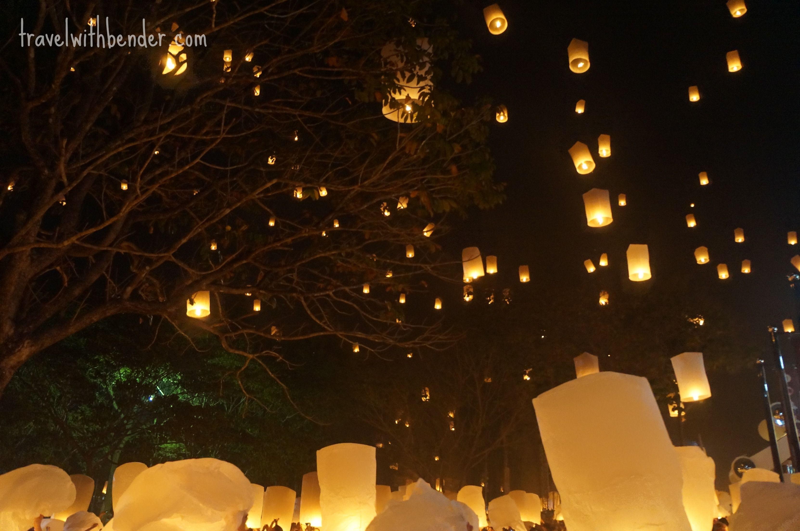 the magic of yi peng floating lantern festival in chiang mai