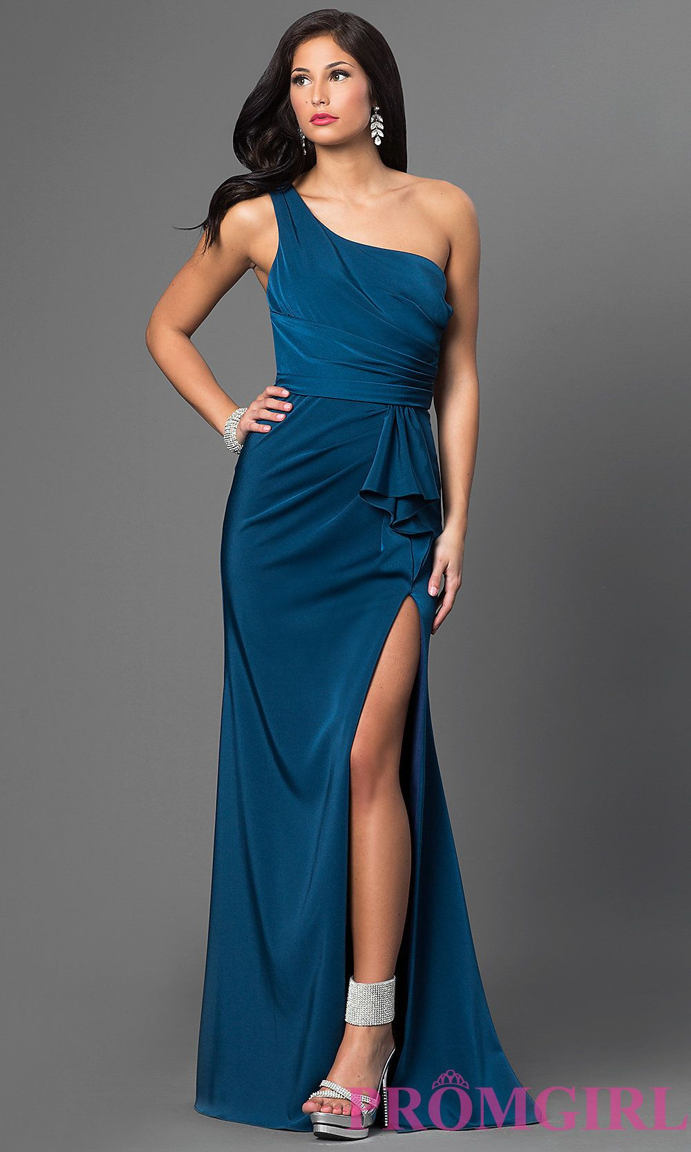 One shoulder floor length faviana dress shops style and do you