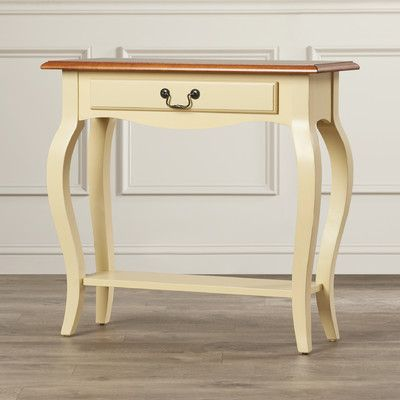 Charlton Home Apple Valley Console Table Color: Ivory