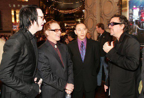 Marilyn Manson, Danny Elfman, Paul Reubens and Tim Burton
