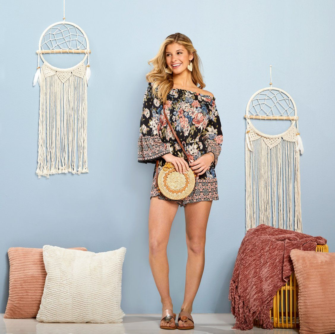 Bohochic florals are so instyle this spring! boho ootd