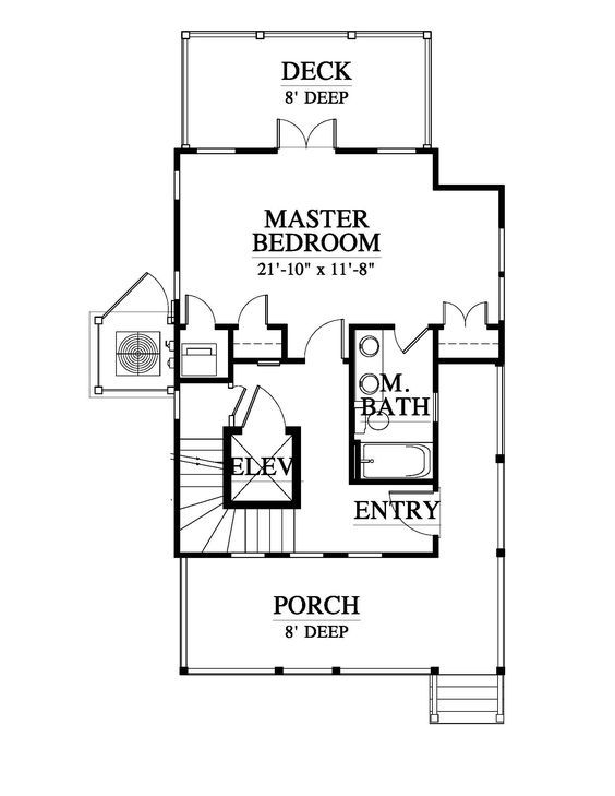 Interesting Use Of Elevator With Stairs Winding Around It Hickory Nut Allison Ramsey Architects Elevation Stair Plan House Plans Loft Floor Plans