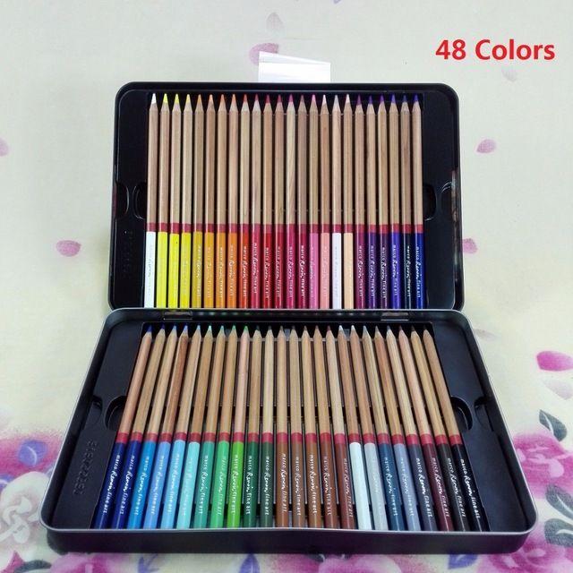 Marco Professionnel 24/36/48/72 Couleur Crayons Dessin Crayon De Couleur d'art de L'école Crayon; Lisse Texture; crémeux Plomb; Riche Pigments;