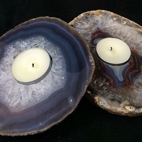 Agate Tealight Candle Holder With