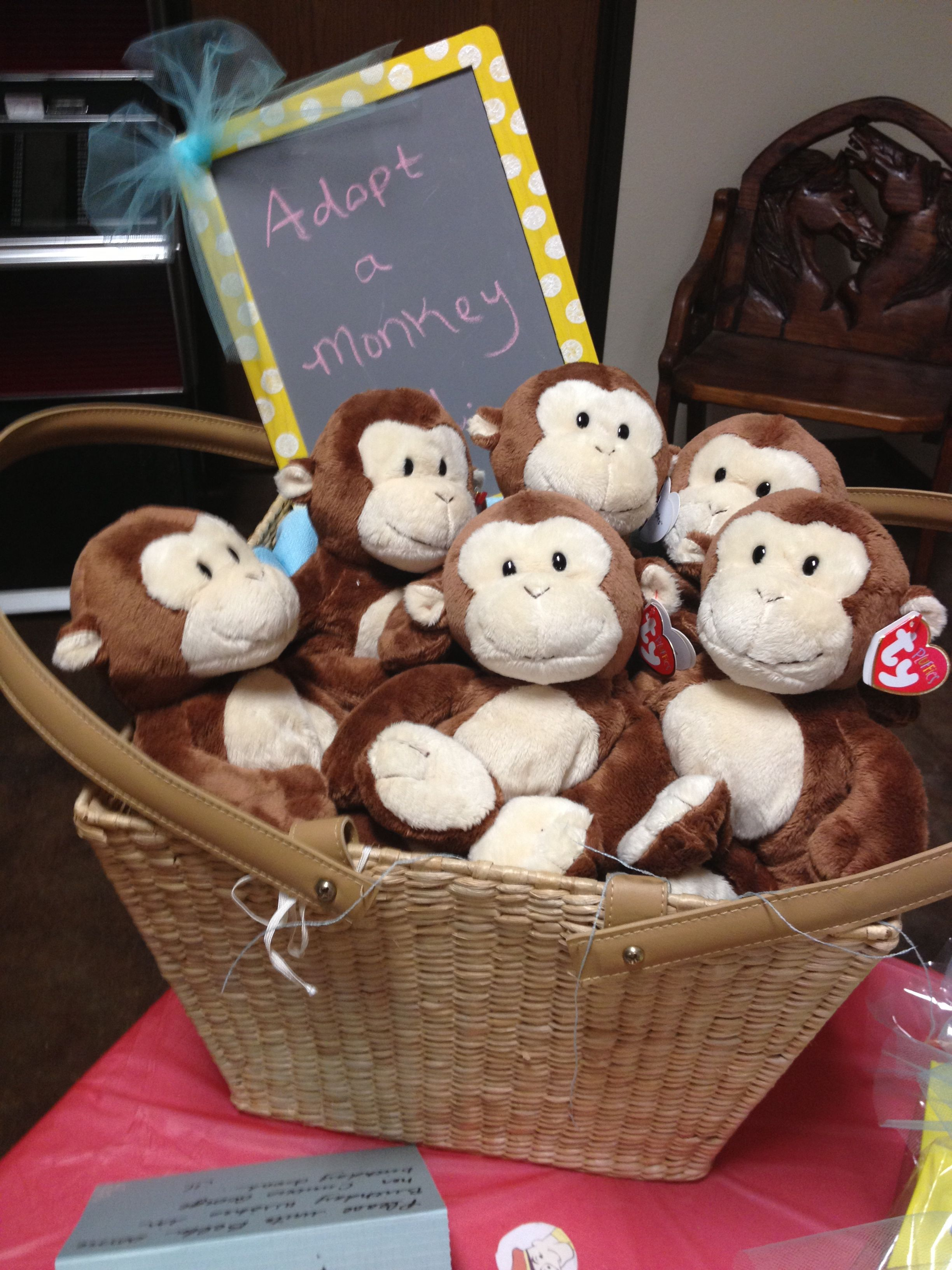 Curious George Birthday Party Adpot A Monkey
