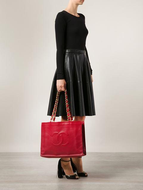 d3c9b58565f Chanel Vintage Cc Shopper Tote - Bella Bag.   Chanel   Chanel ...