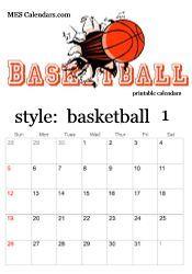 printable basketball calendars customizable sports calendars for