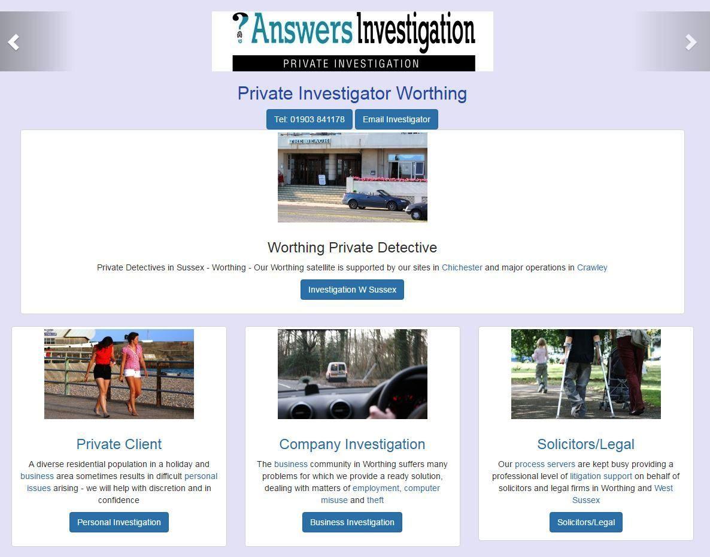 Worthing Private Investigator
