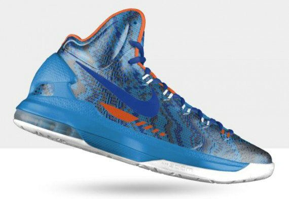 newest 8a1f6 a4f6c Free Shipping Only 69  Nike KD V christmas Photo Blue White