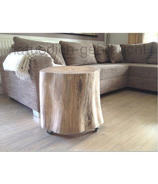 Beistelltische Baumstamm Beistelltisch Ein Designerstück Von