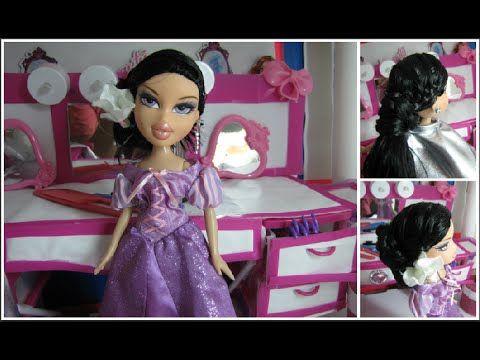 Cute Dolls And Girls Hairstyles Bratz Doll Hairstyle Doll Hair Dolls Clothes Diy Doll Clothes Patterns Free