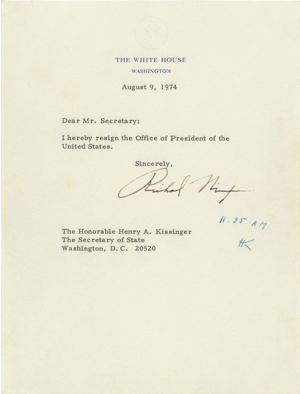 Nixon\u0027s resignation letter via Boing Boing Out there Pinterest