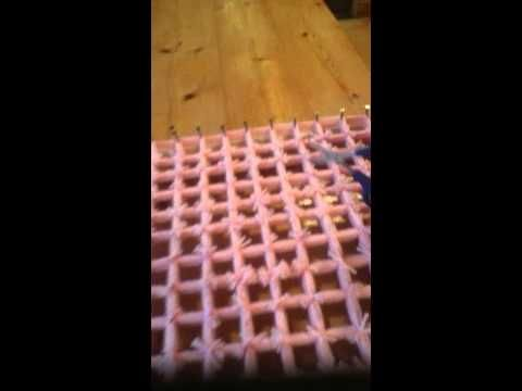 Loom Board Pom Pom Blanket Part 4 Loom Knitting Patterns Loom Knitting Tutorial Pom Pom Blanket