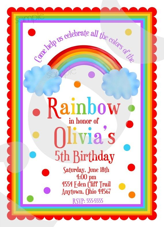 rainbow birthday invitations rainbow birthday party personalized, rainbow 1st birthday party invitations, rainbow birthday party invitation card, rainbow birthday party invitation wording