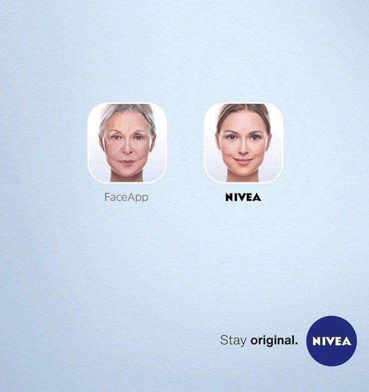 Stay original with Nivea #RealTimeMarketing #FaceApp #Nivea ...