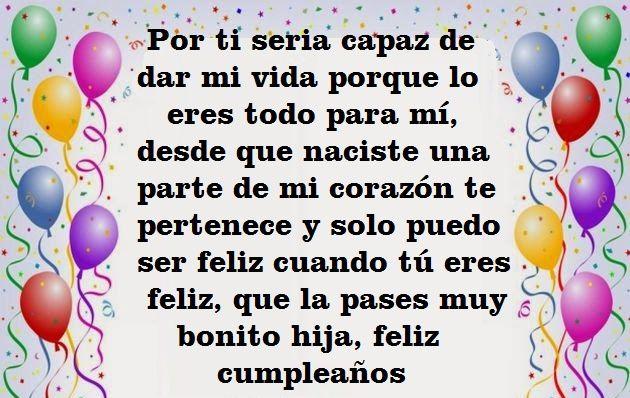 Mensaje De Feliz Cumpleaños A Una Hija Mensaje De Feliz Cumpleaños Felicitaciones De Cumpleaños Hija Feliz Cumpleaños Mi Hija
