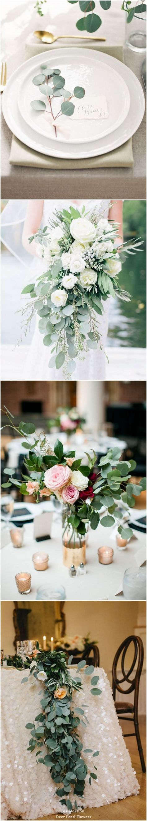 Wedding theme ideas by color   Greenery Eucalyptus Wedding Decor Ideas  Green weddings