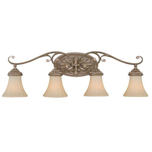 Vaxcel Avenant French Bronze Four-Light Vanity Fixture | Vanities ...