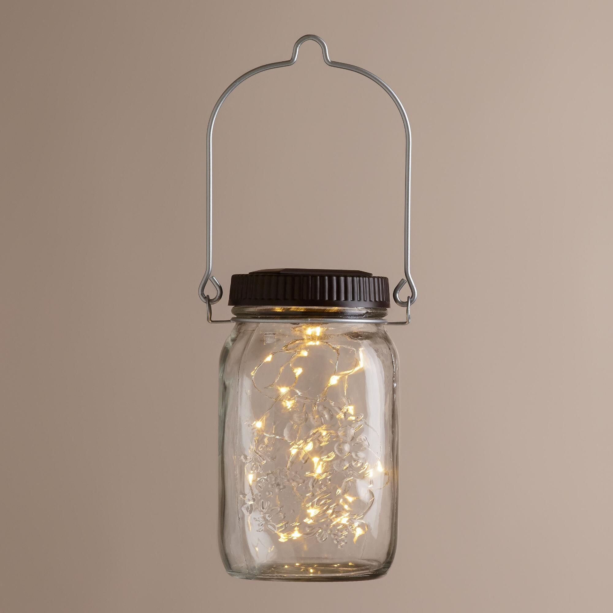 Firefly Solar Led Mason Jar Lantern By World Market