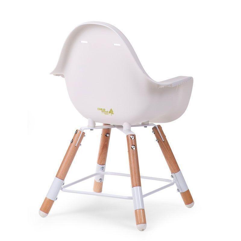 Childwood Evolu 2 High Chair Natural White Baby Bunting