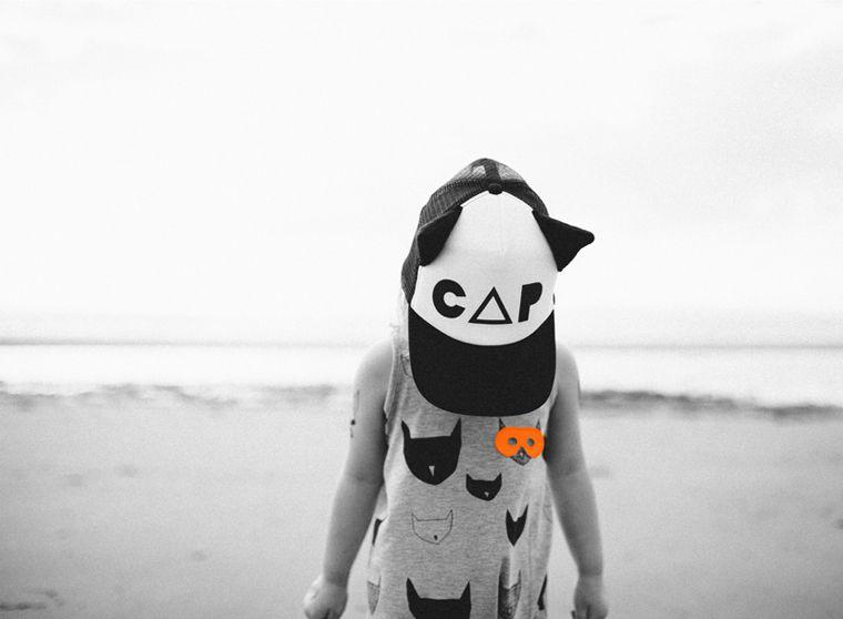 Beau LOves SS14 jumpsuit grey marl cat-cats cap