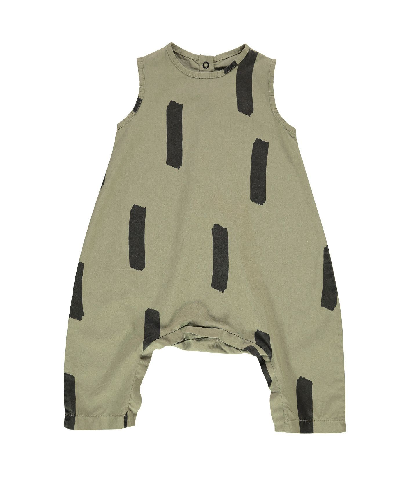 Beau loves cotton wide fit romper olive green paintbrush products