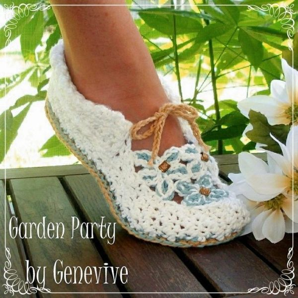 Crochet pattern Garden Party Loafers by GeneviveCrochet | boot ...