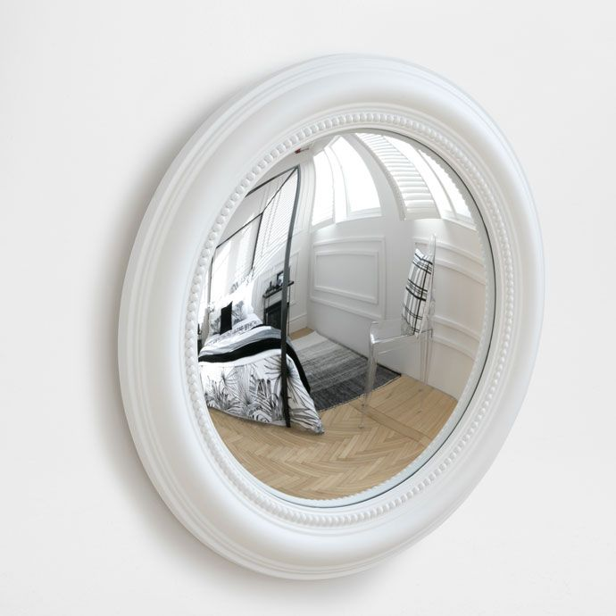 miroir convexe blanc en relief zara home france 70. Black Bedroom Furniture Sets. Home Design Ideas