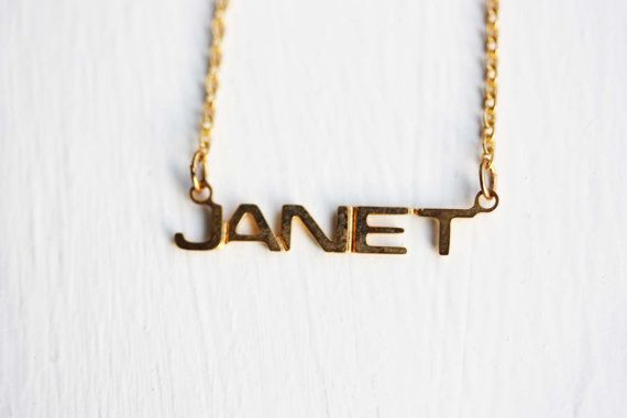 Janet Name Necklace, Janet Necklace, Janet, Name Necklace
