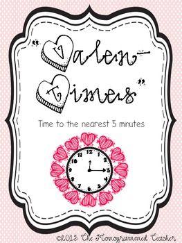 Happy Valen Time S Day Valentine S Day Telling Time To Math Valentines Math Freebie Telling Time