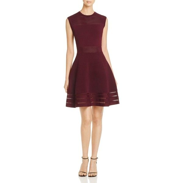 Ted Baker Aurbray Knit Skater Dress - 100% Exclusive ($295) ❤ liked ...