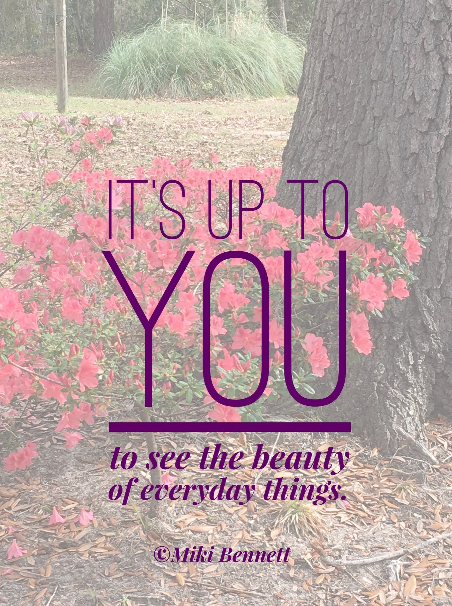 Quote It S Up To You To See The Beauty In Everyday Things New Beginnings Inspirational Quotes Motivation