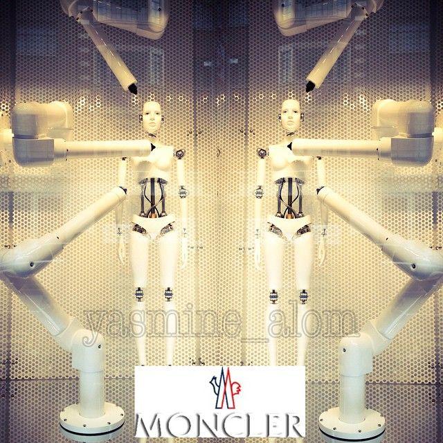 "MONCLER,Knightsbridge,London, UK, ""AUTOMATION"", pinned by Ton van der Veer"